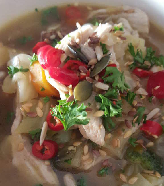 shredded chicken soup