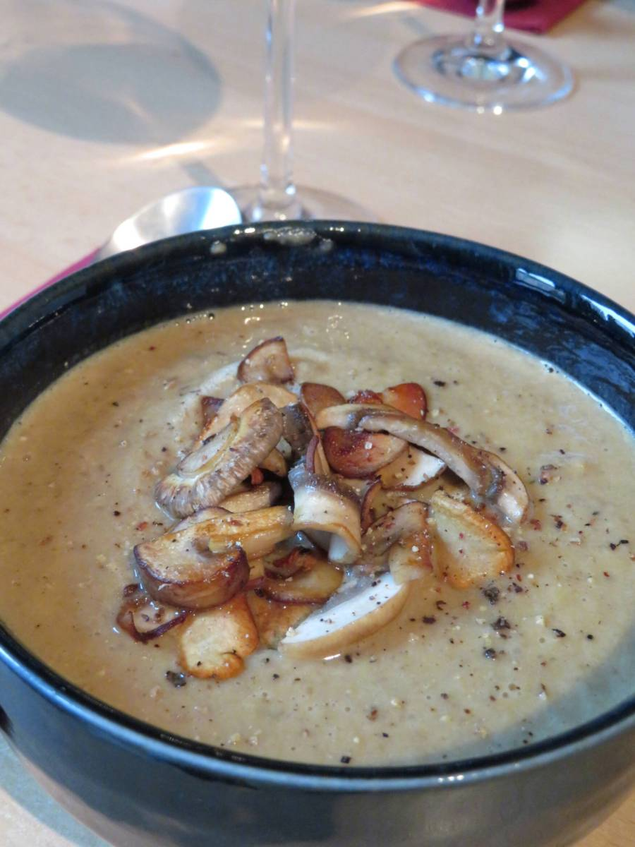 Creamy Mushroom Soup with Chestnuts